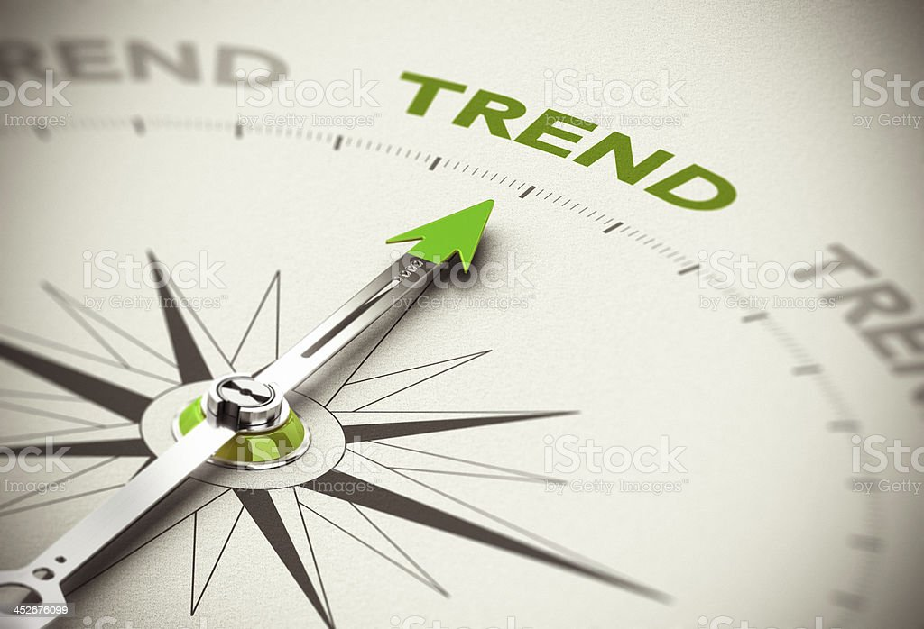 Following the Trend Indicator stock photo