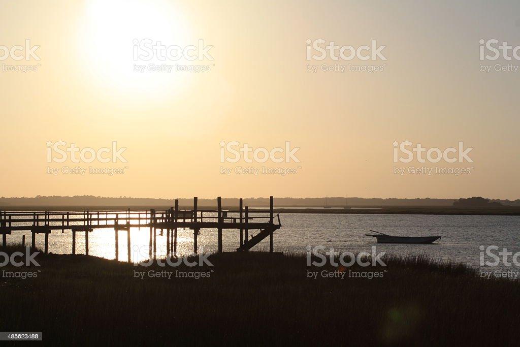 Folly River Sunset stock photo