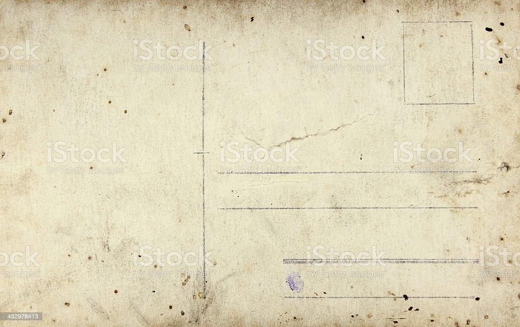 Fond- Ancienne carte postale stock photo