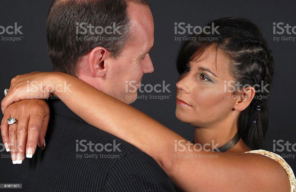 Fond Couple stock photo