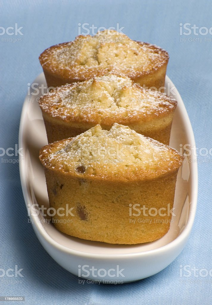 Friands on plate royalty-free stock photo