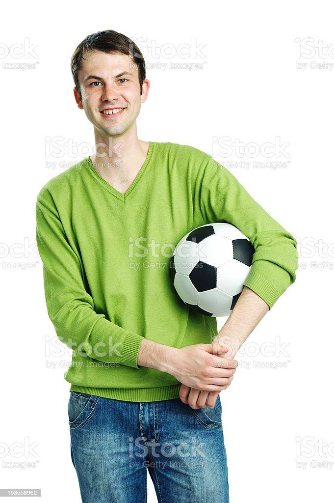 Fond of football royalty-free stock photo