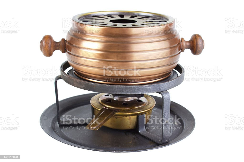 Fondue cooker royalty-free stock photo