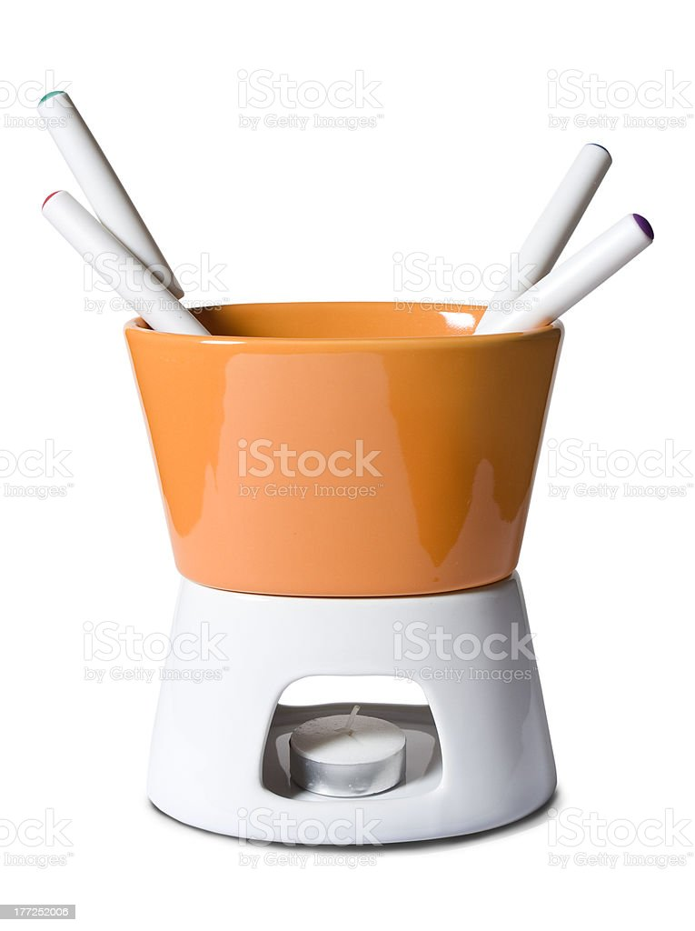 Fondue set royalty-free stock photo