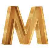Font Alfabeto M 3D Render