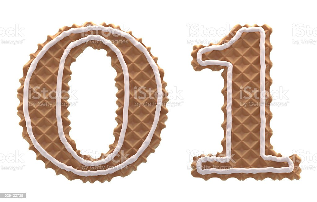 Font. waffles with cream stock photo