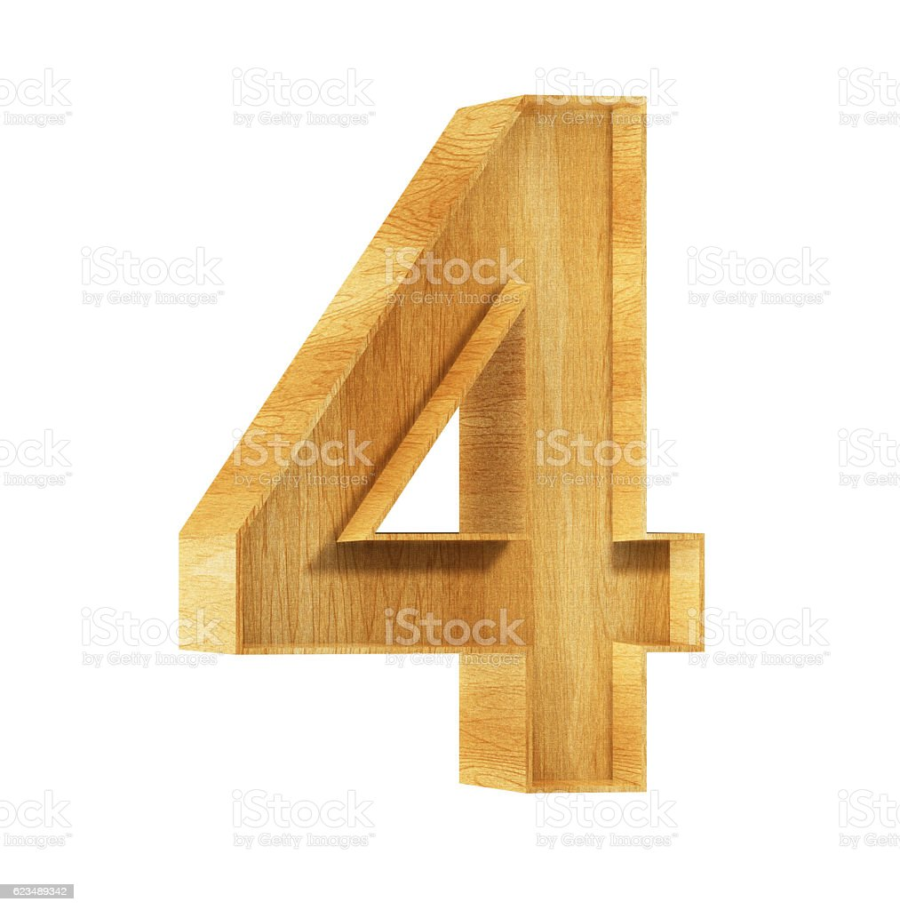 Font Wood 4 3D Rendering Illustration stock photo