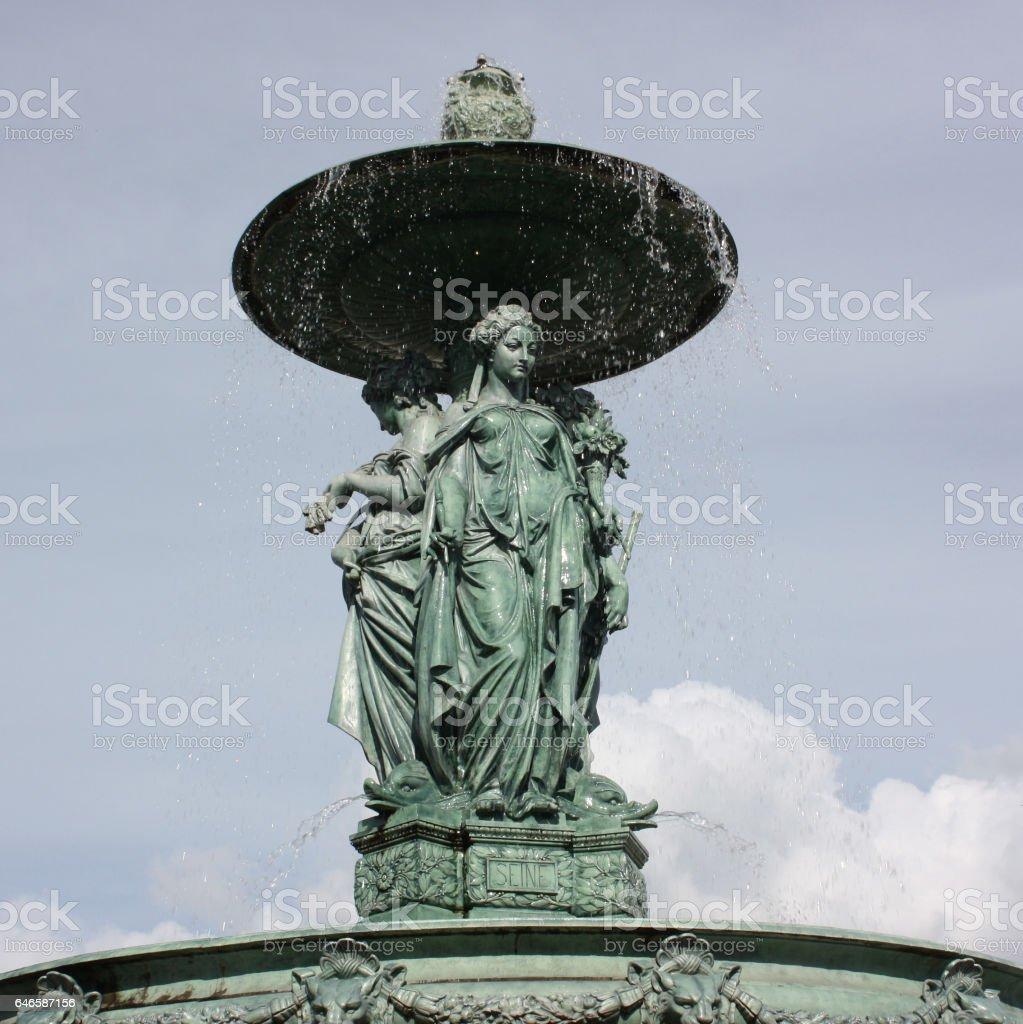 Fontaine de Saint Jean à Melun stock photo