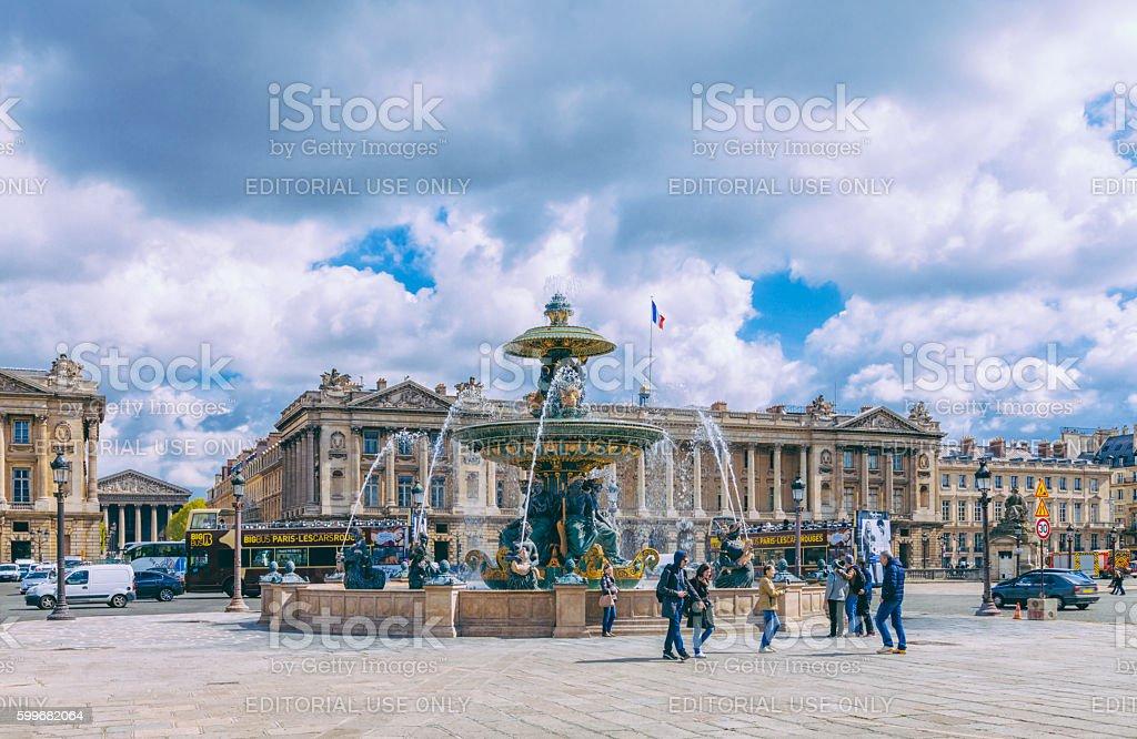 Fontaines de la Concorde, Paris stock photo