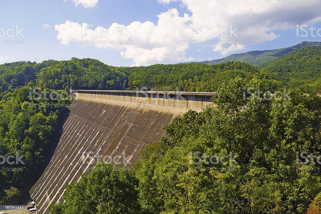 Fontana Dam Face North Carolina royalty-free stock photo