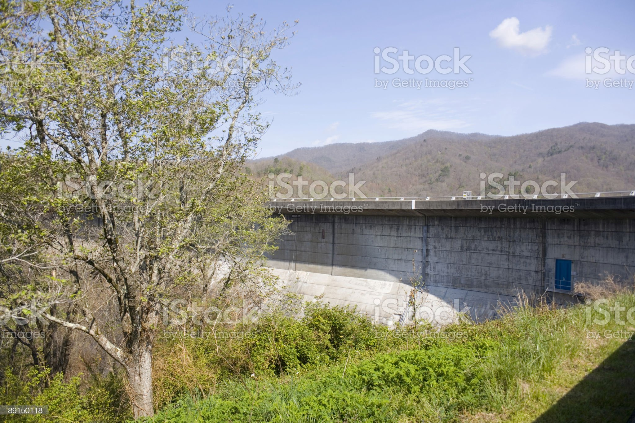 Fontana Dam royalty-free stock photo