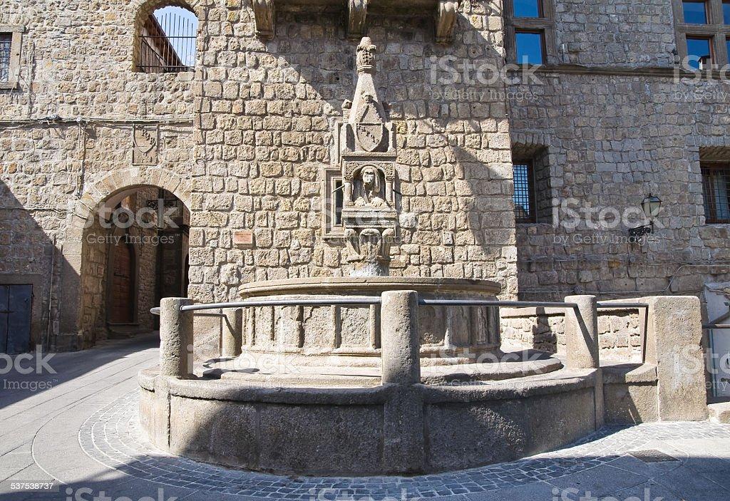 Fontana del Fuso. Vitorchiano. Lazio. Italy. stock photo
