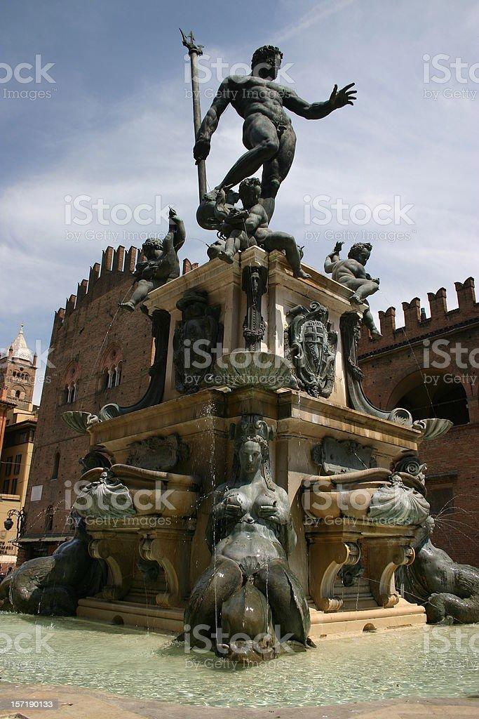 Fontana del Nettuno royalty-free stock photo