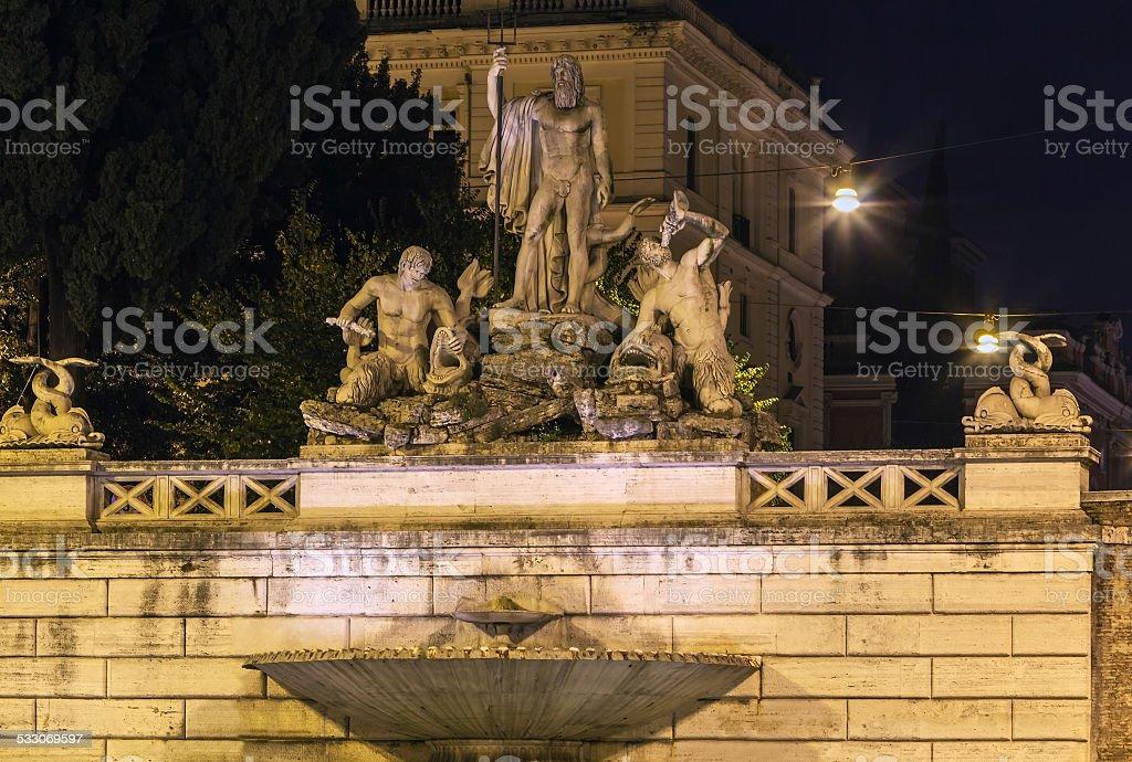 Fontana del Nettuno, Rome stock photo
