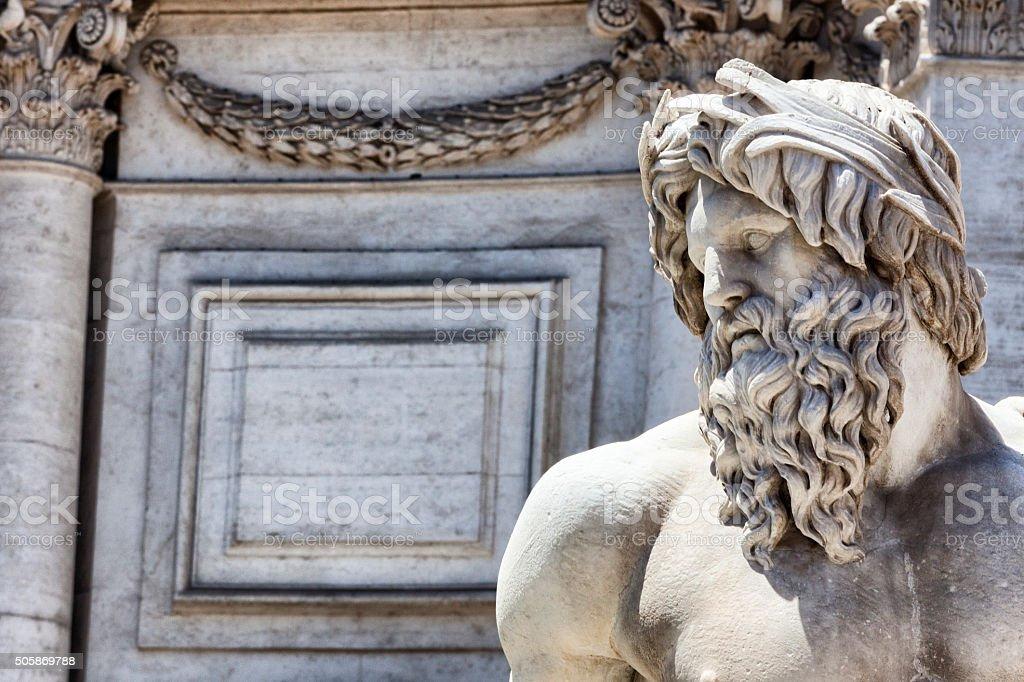 Fontana del Pantheon in Rome, Italy stock photo