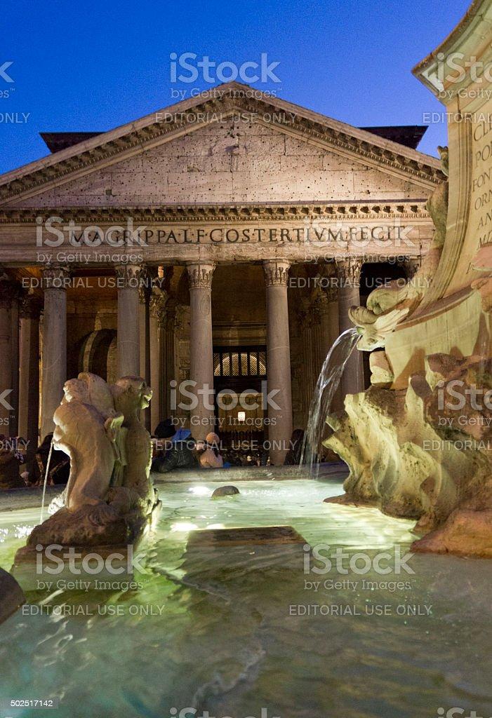 Fontana del Pantheon in Rome stock photo