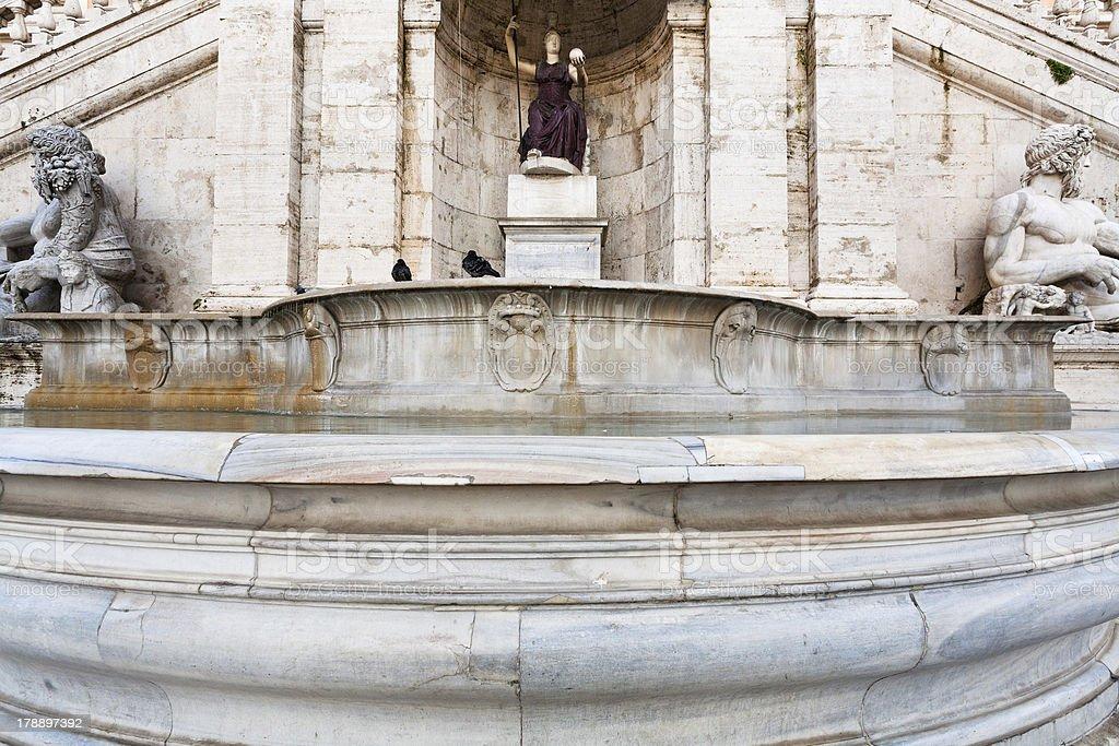 Fontana della Dea Roma on Capitoline Hill, Rome stock photo