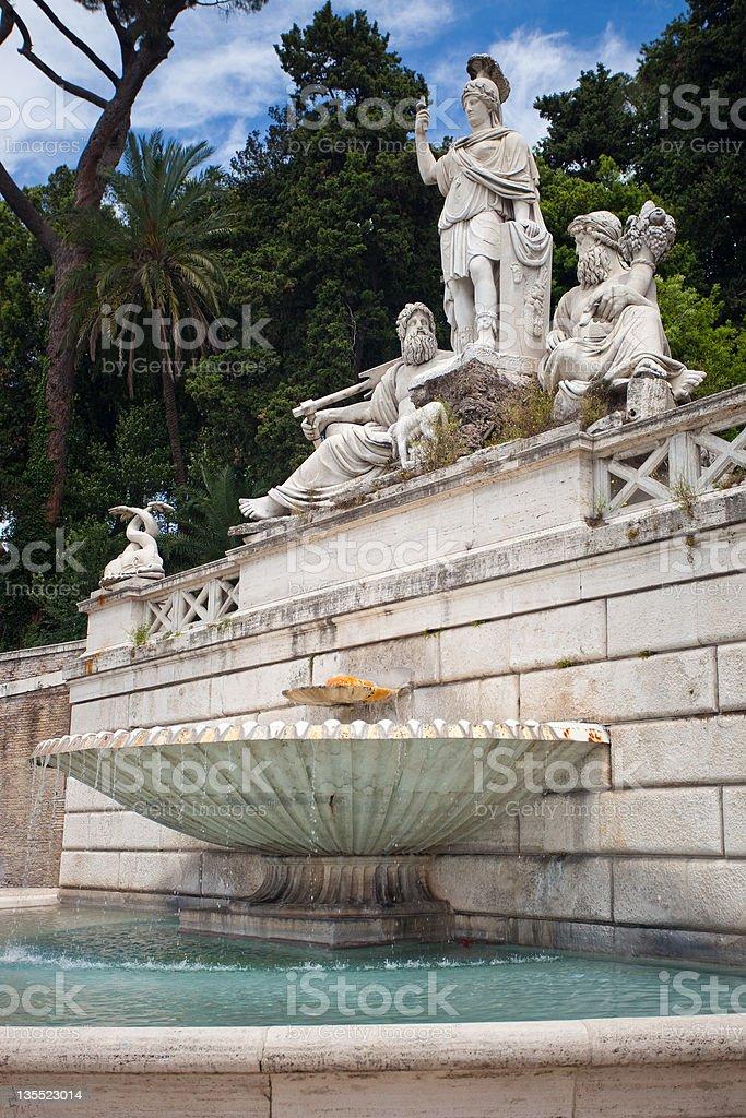 Fontana Della Dea Roma stock photo
