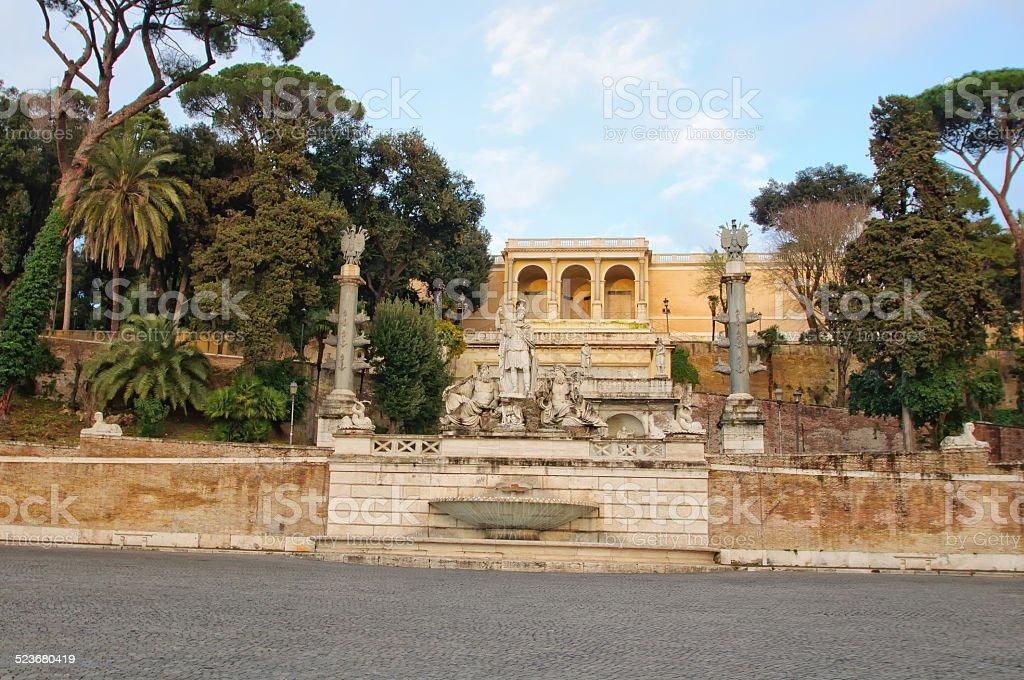 Fontana della Dea Roma, Rome, Italy stock photo