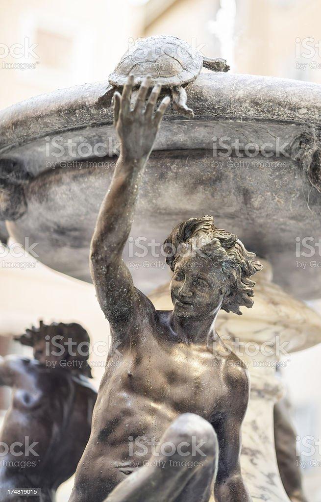 Fontana delle Tartarughe in Rome, Italy royalty-free stock photo
