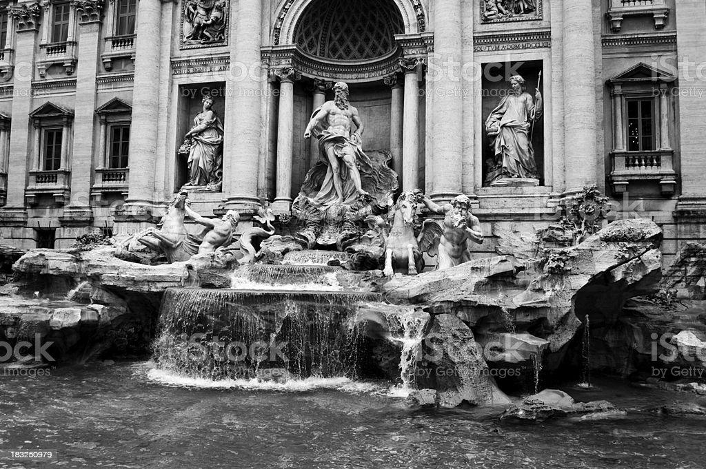 Fontana di Trevi in Black and White stock photo