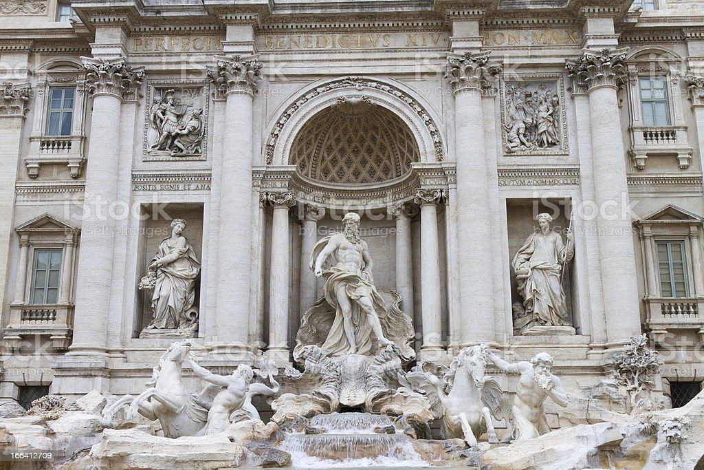 Fontana di Trevi royalty-free stock photo