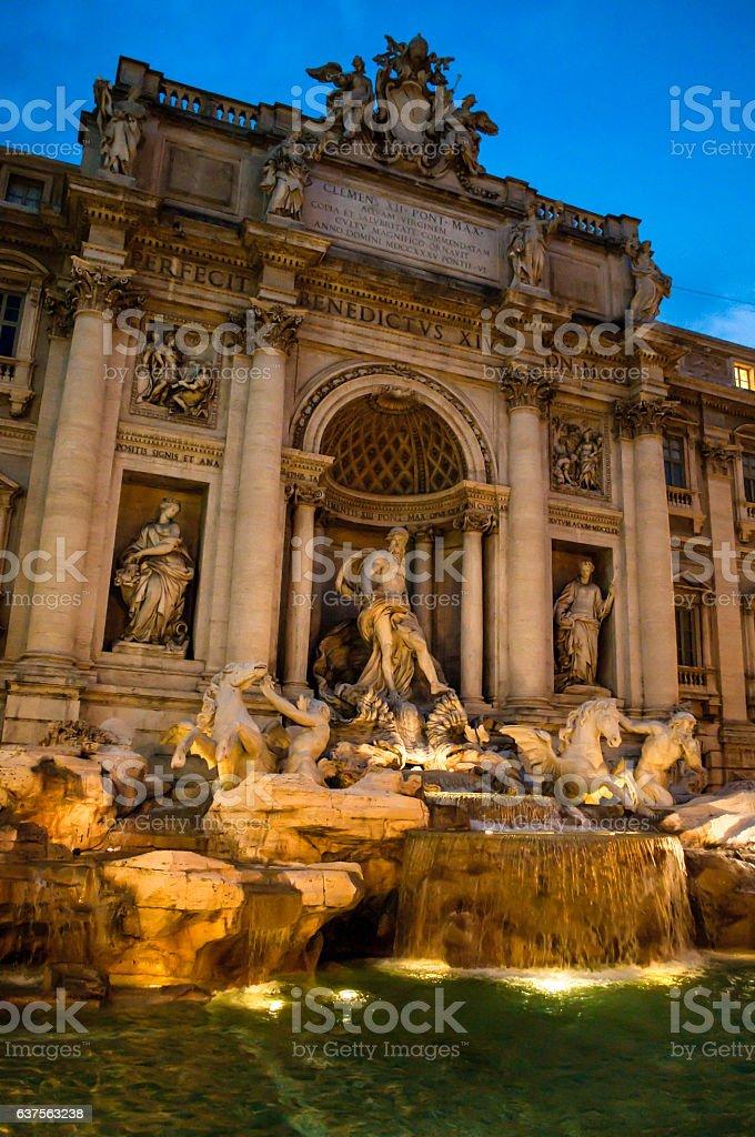 Fontana di Trevi, Rome, Italy stock photo