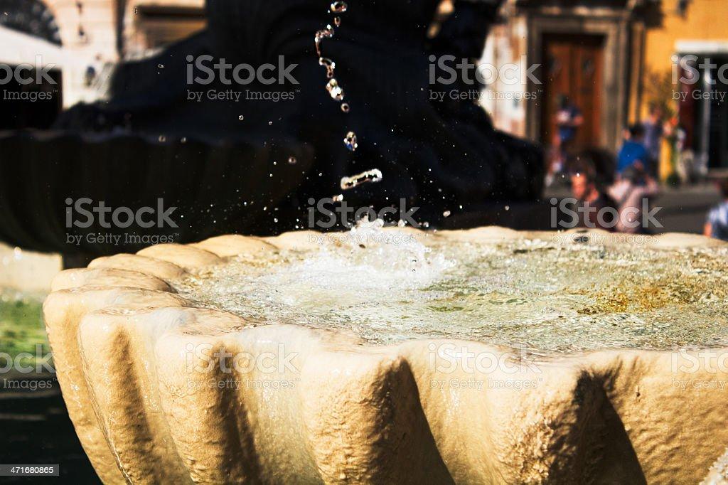 fontana in trastevere royalty-free stock photo