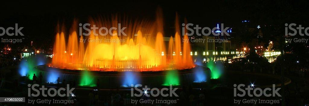 Fontana Magica in orange stock photo