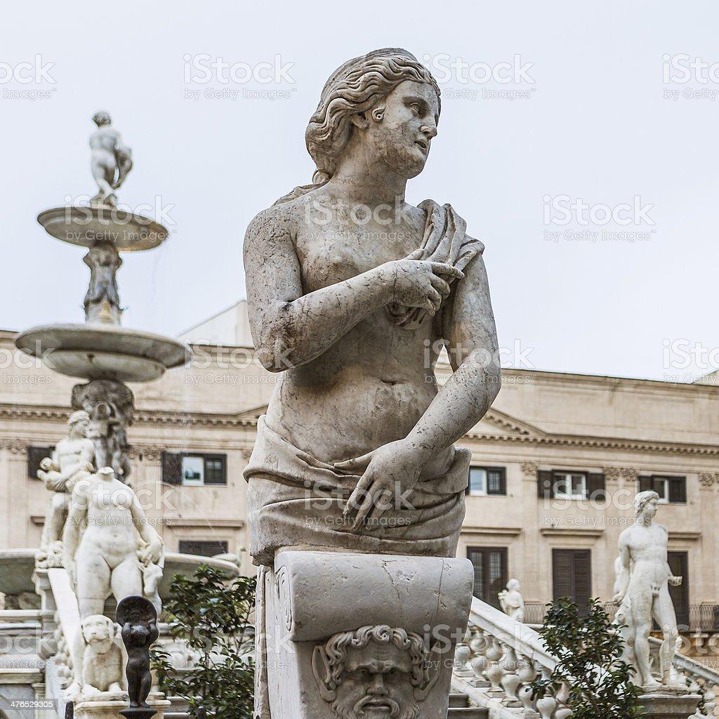 Fontana Pretoria in Palermo, Sicily, Italy royalty-free stock photo