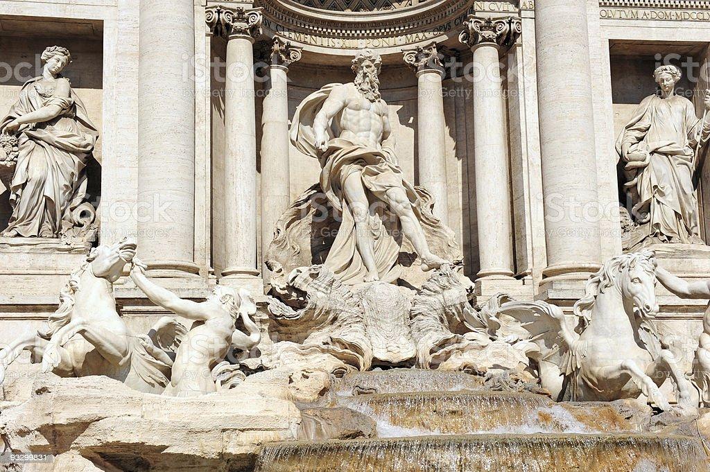 Fontana Trevi,Rome royalty-free stock photo
