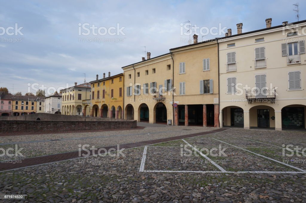 Fontanellato street view stock photo