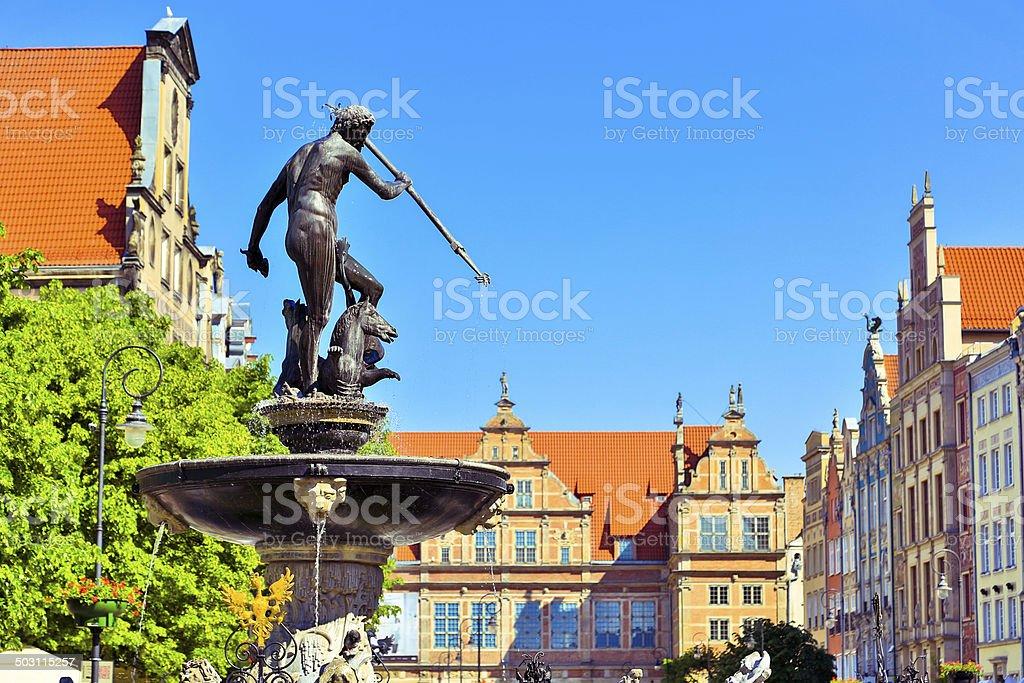 Fontanna Neptuna, Gdansk stock photo