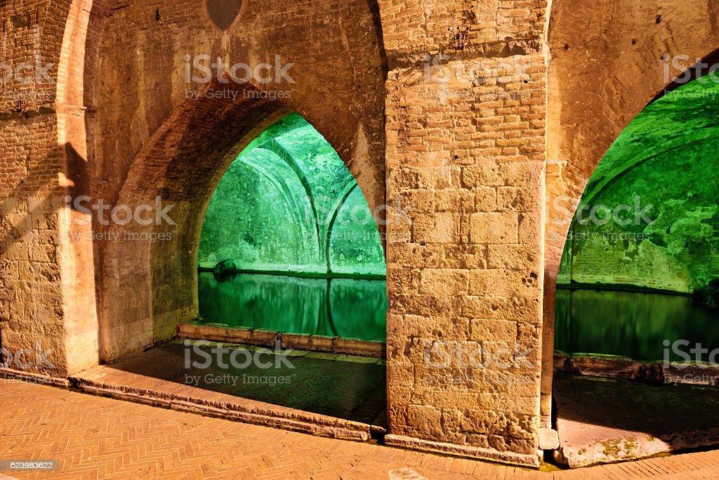 Fontebranda in Siena, Italy stock photo