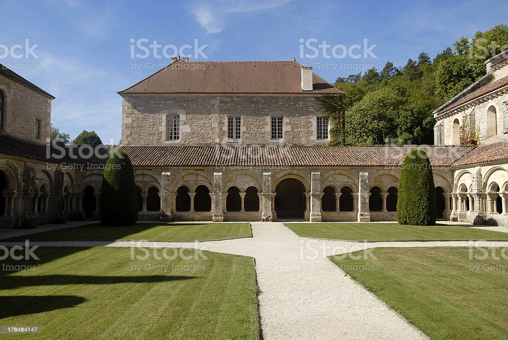 Fontenay - Abbey in Burgundy/France royalty-free stock photo