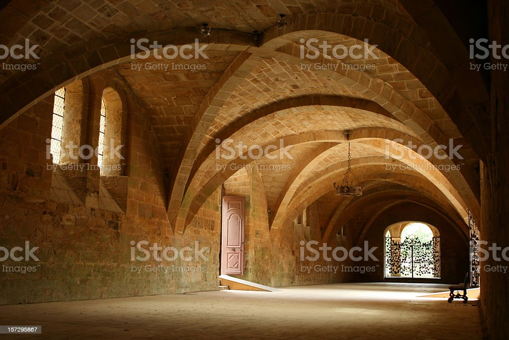 Fontfroide Abbey, France royalty-free stock photo
