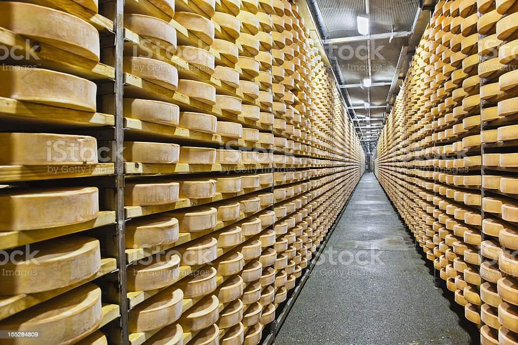 Fontina Cheese stock photo