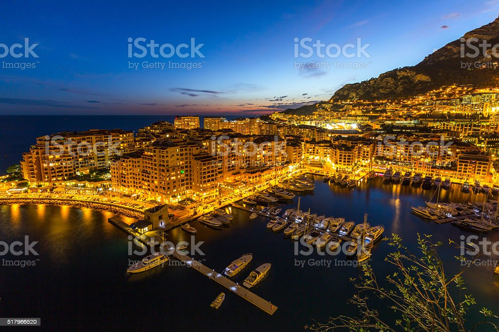Fontvieille Monaco Harbor stock photo