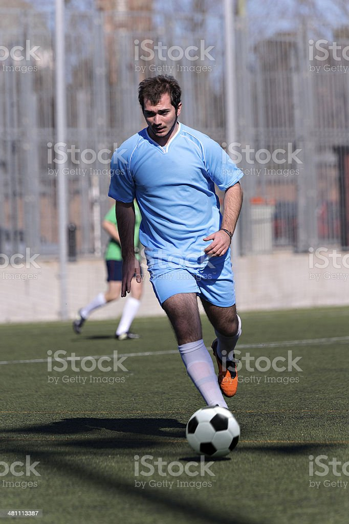 Fooball player royalty-free stock photo