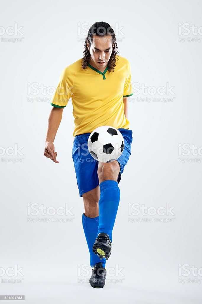 fooball skills stock photo