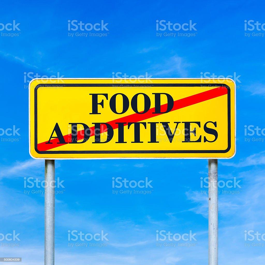 Food additives prohibited stock photo