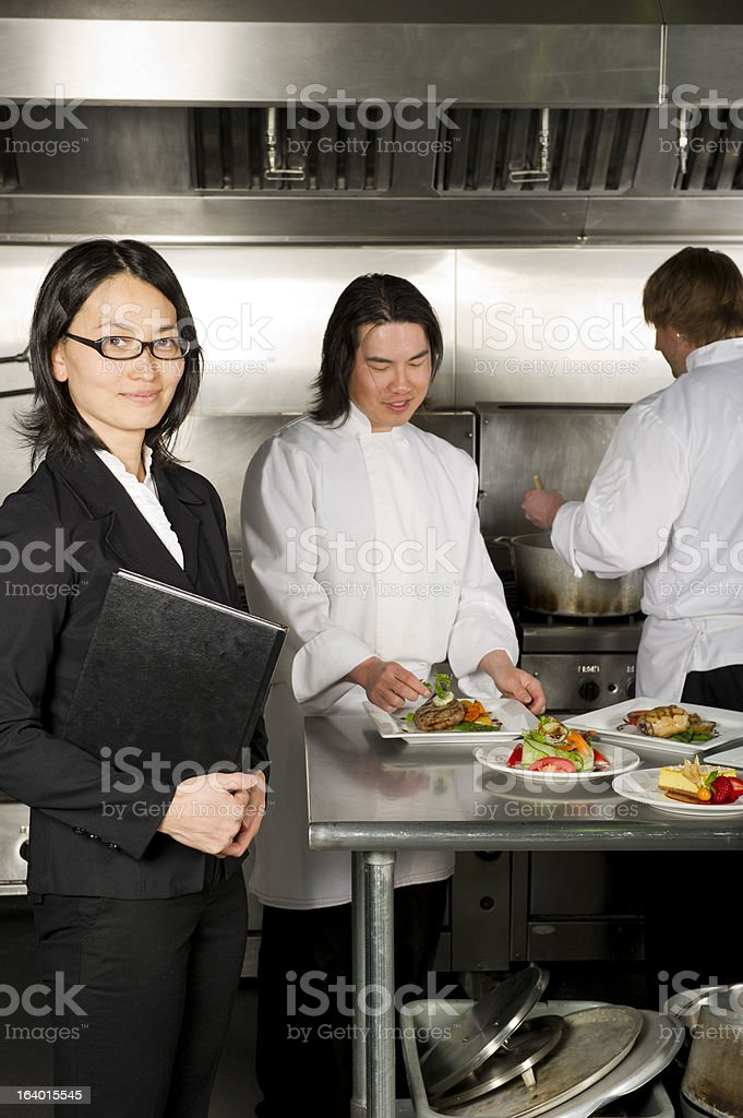 Food and Beverage Manager royalty-free stock photo
