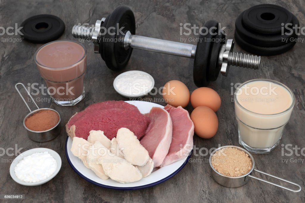 Food and Drink for Body Builders stock photo