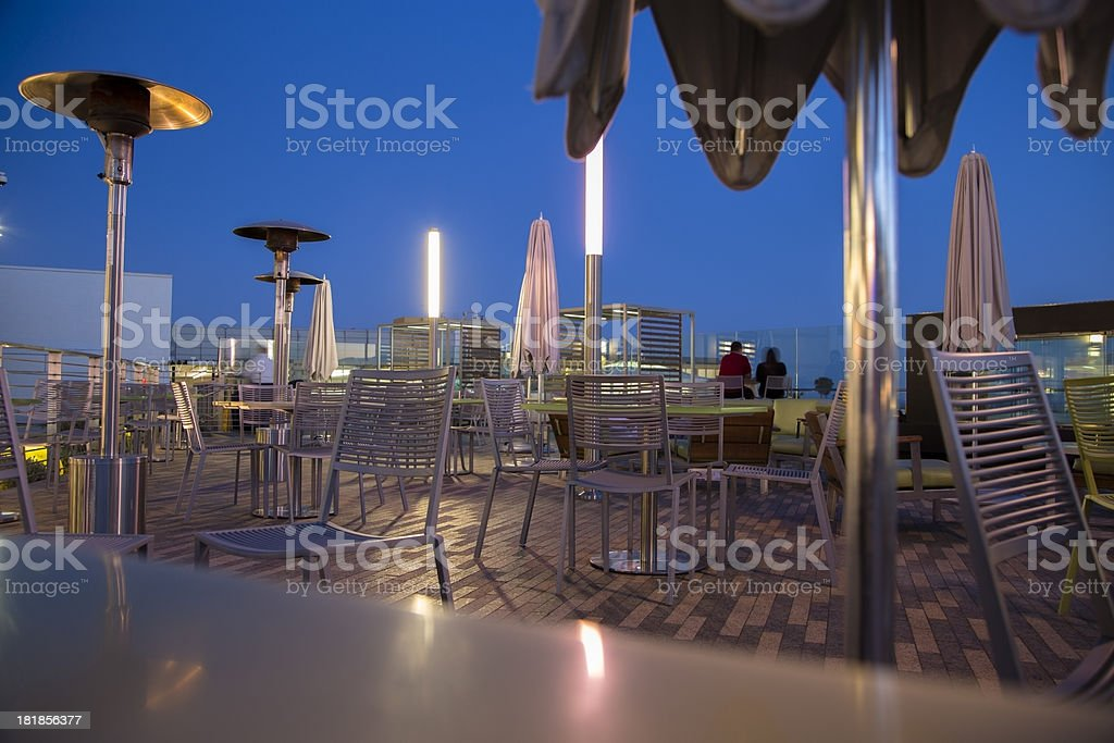 Food and Drink:  Restaurant on top of shopping mall, California royalty-free stock photo