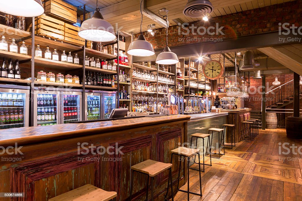 Food and Drinks Establishment with a Traditional Modern Twist stock photo