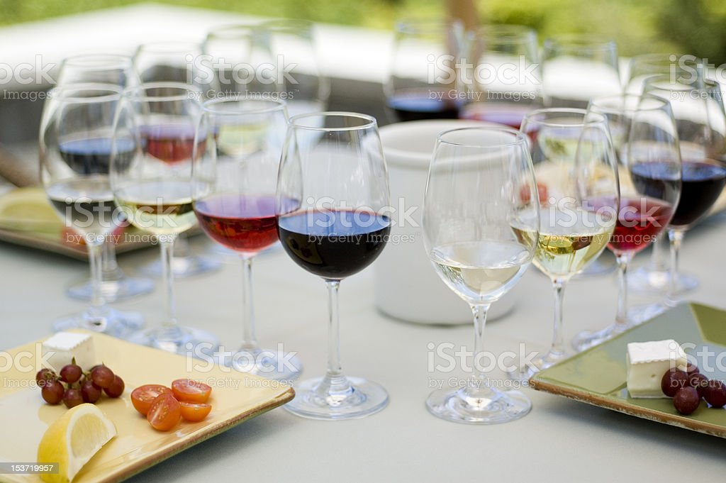 Food and Wine Pairing royalty-free stock photo