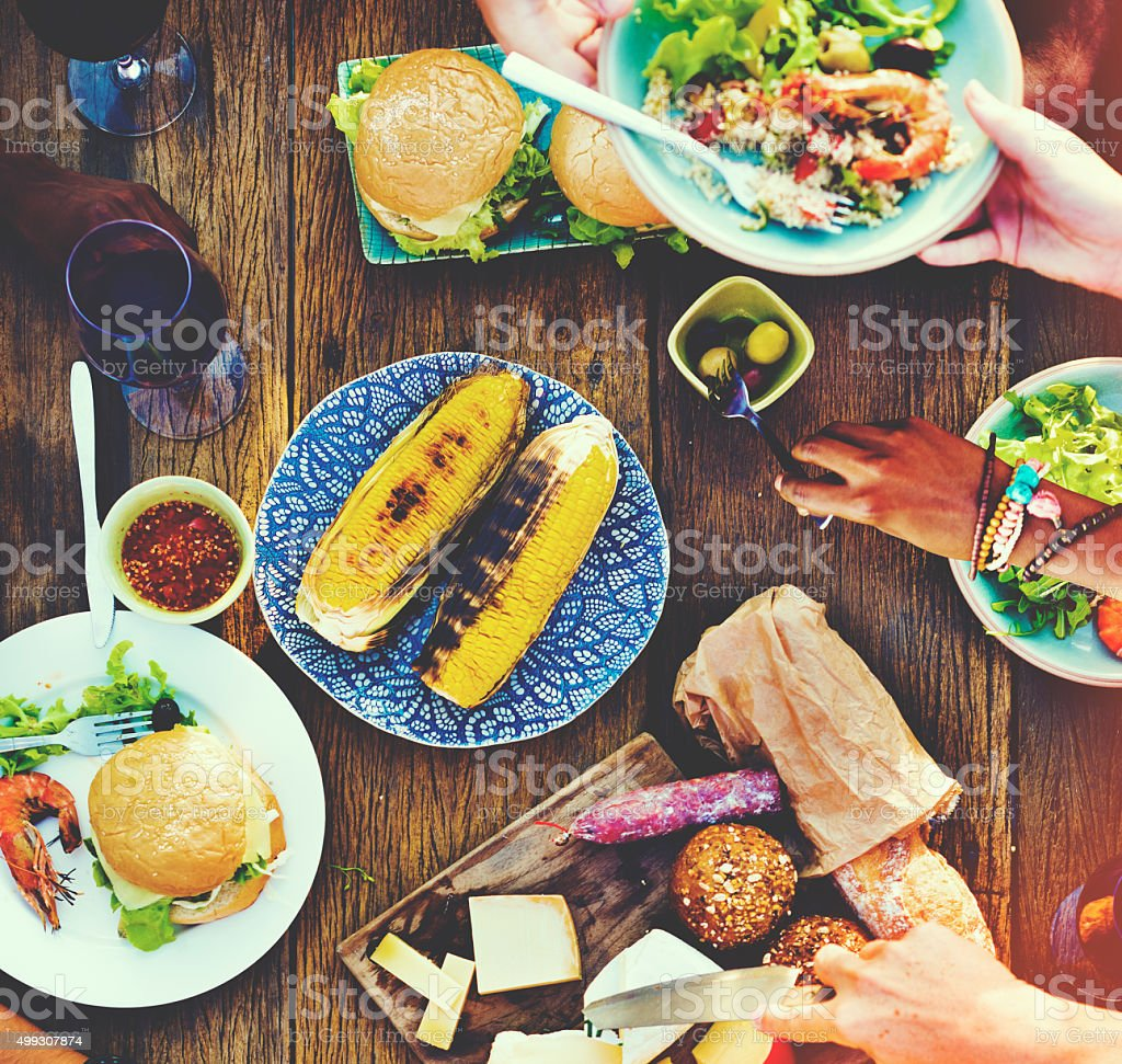 Food Appetiser Serve Luncheon Meal Concept stock photo