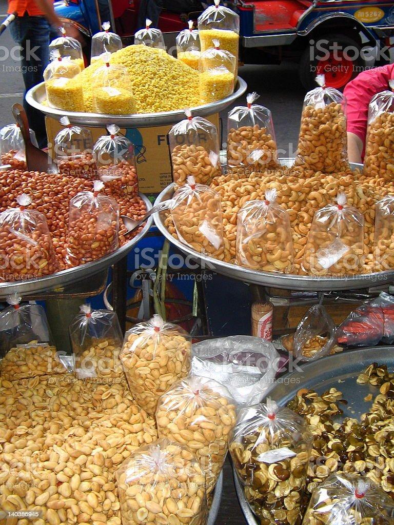 Food at Thai Market royalty-free stock photo