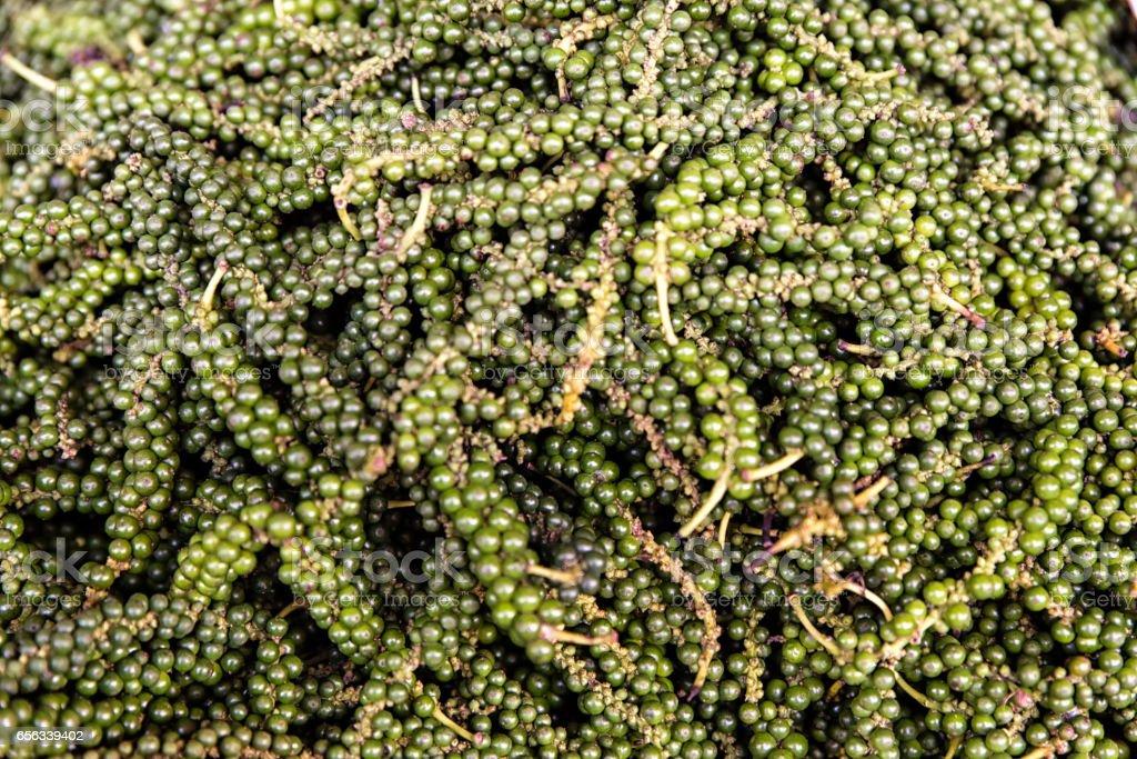 Food background fresh green pepper stock photo