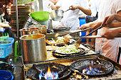 Food being prepared at a Thai restaurant